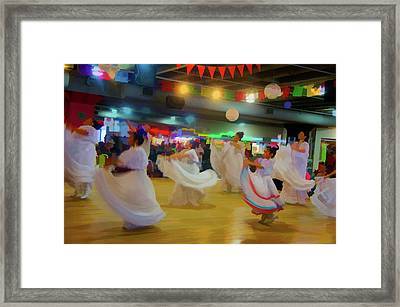 Traditional Mexican Dancers  Framed Print by Art Spectrum