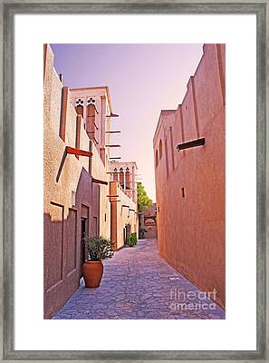 Traditional Middle Eastern Street In Dubai Framed Print by Chris Smith
