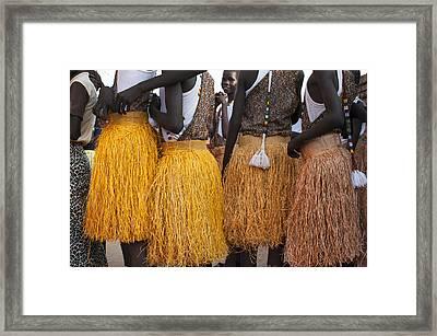 Traditional Skirts Dance. Framed Print
