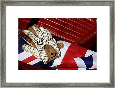Traditional String Back Driving Gloves Framed Print