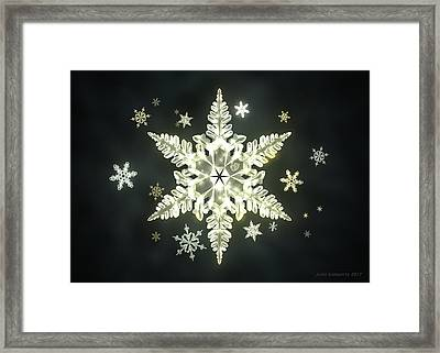 Traditional Sunlight Snowflakes Framed Print
