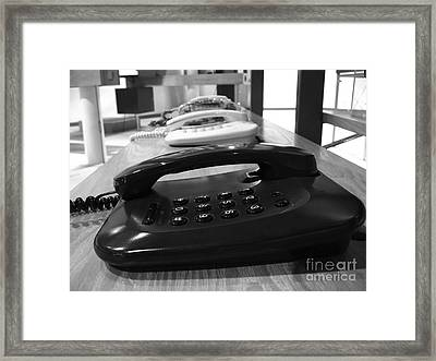 Traditional Telephones Framed Print by Yali Shi