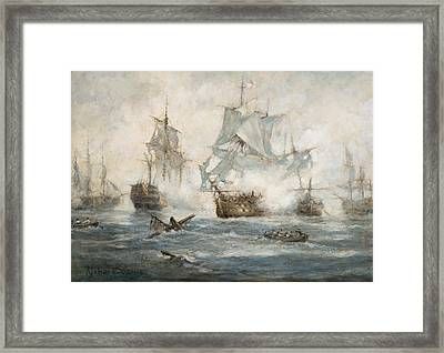 Trafalgar   End Game Framed Print by Richard Willis