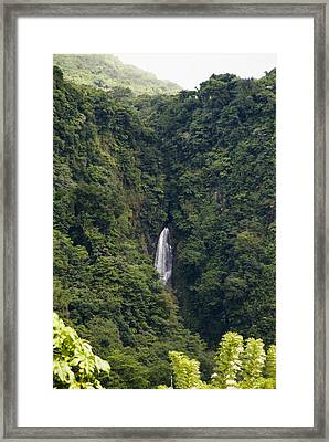 Trafalgar Falls From A Distance Framed Print by Todd Gipstein