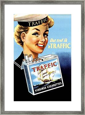 Traffic Cigarette Framed Print