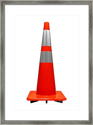 Traffic Cone Framed Print by Olivier Le Queinec