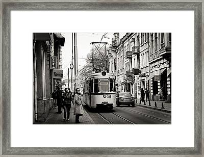 Traffic Framed Print by Gabriela Insuratelu
