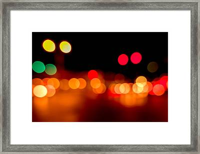 Traffic Lights Number 5 Framed Print