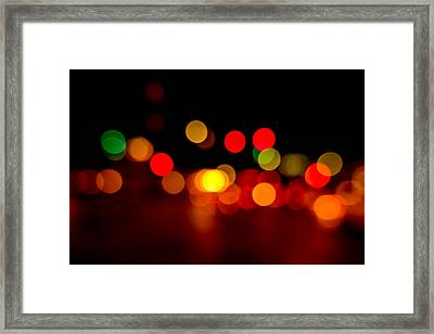 Traffic Lights Number 8 Framed Print