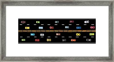 Framed Print featuring the photograph Traffic - Panorama by Nikolyn McDonald