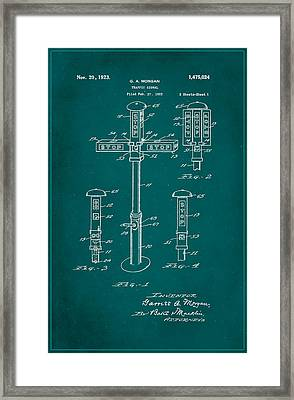 Traffic Signal Patent Drawing 1a Framed Print