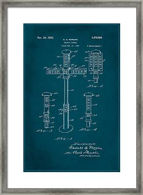 Traffic Signal Patent Drawing 1c Framed Print