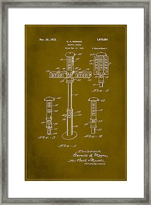 Traffic Signal Patent Drawing 1d Framed Print