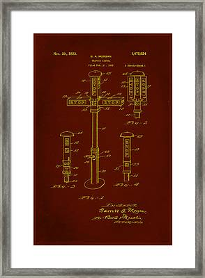 Traffic Signal Patent Drawing 1e Framed Print