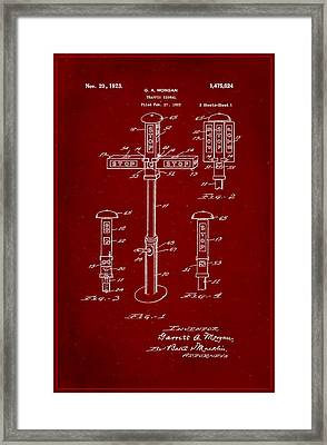Traffic Signal Patent Drawing 1g Framed Print