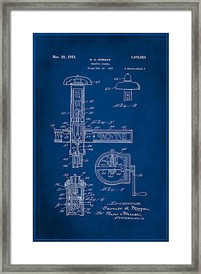 Traffic Signal Patent Drawing 2a Framed Print