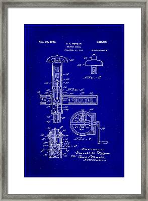 Traffic Signal Patent Drawing 2c Framed Print