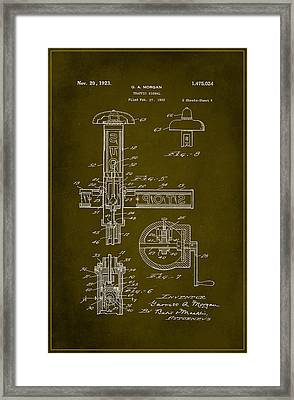 Traffic Signal Patent Drawing 2d Framed Print