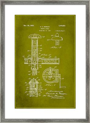 Traffic Signal Patent Drawing 2e Framed Print