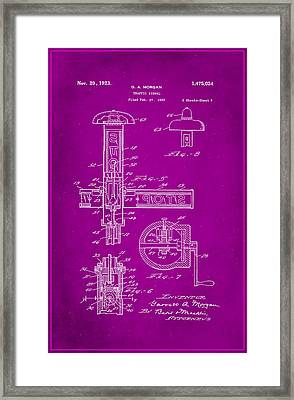 Traffic Signal Patent Drawing 2g Framed Print