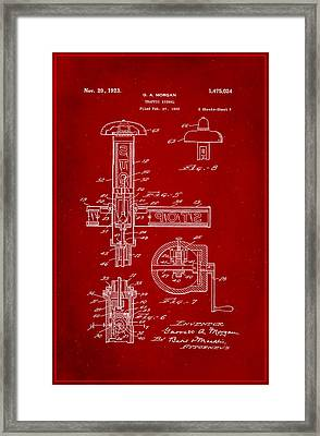 Traffic Signal Patent Drawing 2h Framed Print