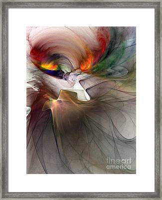 Tragedy Abstract Art Framed Print by Karin Kuhlmann
