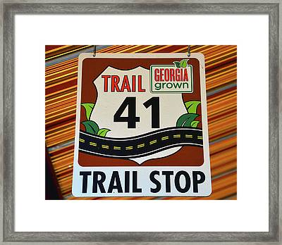 Trail 41 Stop Framed Print by David Lee Thompson