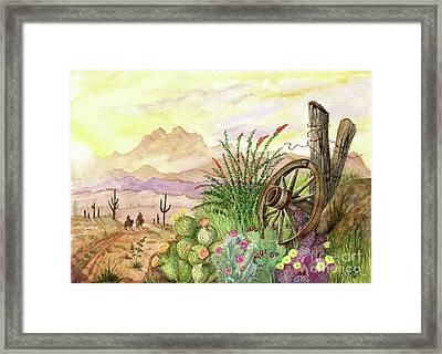 Trail At Sunrise Framed Print