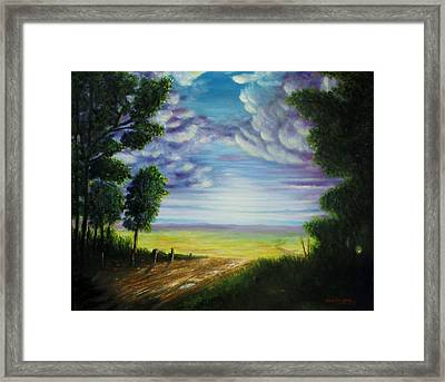 Trail Away  Framed Print
