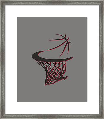 Trail Blazers Basketball Hoop Framed Print