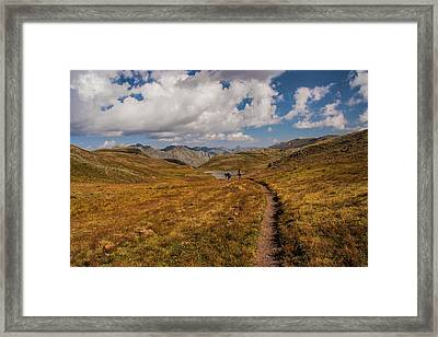 Trail Dancing Framed Print
