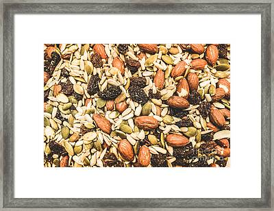 Trail Mix Background Framed Print by Jorgo Photography - Wall Art Gallery