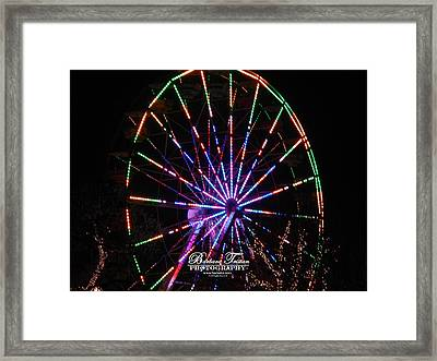 Trail Of Lights #7427 Framed Print by Barbara Tristan