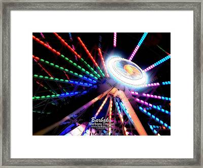 Trail Of Lights Abstract #7486 Framed Print by Barbara Tristan
