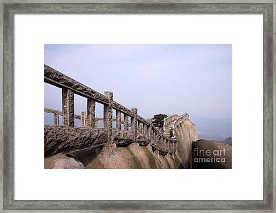 Trail On Mountain Ridge Framed Print by Charline Xia