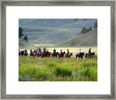 Trail Ride Framed Print by Marty Koch