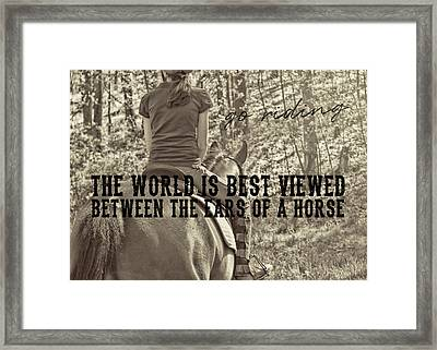 Trail Ride Quote Framed Print by JAMART Photography