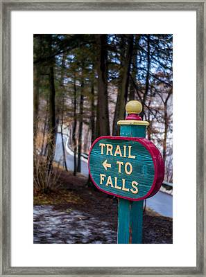 Trail To Falls Framed Print