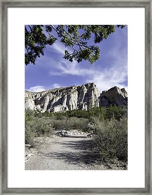 Trail To Tent Rocks Framed Print