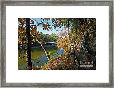 Trail To The Bridge Framed Print by Steve  Gass