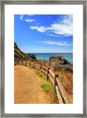 Framed Print featuring the photograph Trail To The Lost Coast by James Eddy