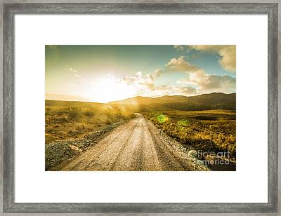 Trail To Trial Framed Print