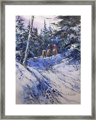 Trail To Winter Camp Framed Print by Douglas Trowbridge