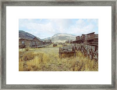 Trail Town Wyoming Framed Print by Brent Easley