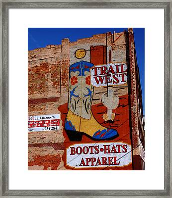 Trail West Mural Framed Print by Susanne Van Hulst