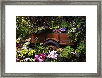 Trailer Full Of Flowers Framed Print by Garry Gay