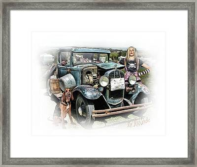 Trailer Trash Annie .... Framed Print by Rat Rod Studios
