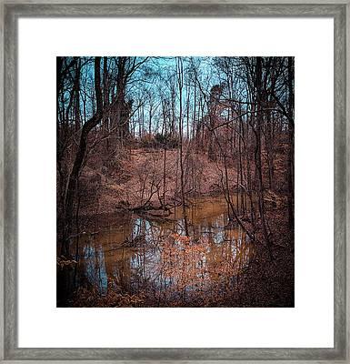 Trailing Creek Framed Print