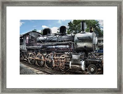 Train - Engine - 385 - Baldwin 2-8-0 Consolidation Locomotive Framed Print by Mike Savad