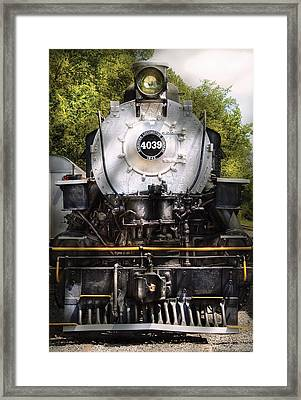 Train - Engine - 4039 American Locomotive Company  Framed Print by Mike Savad